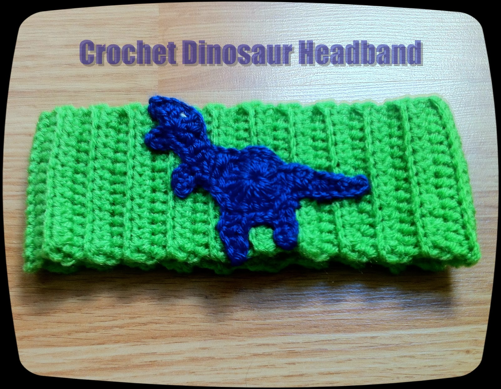 Dinosaur Headband | The Way I Crochet