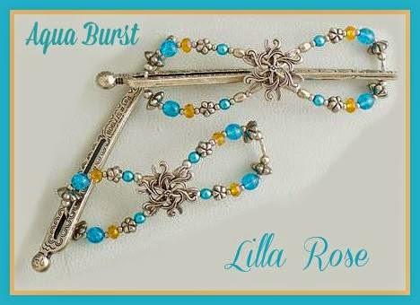 Lilla Rose Aqua Burst April Flexi of the Month