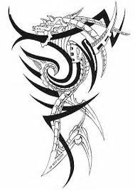 Motif Tato Naga Hitam Putih 17