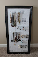 Jewelry Organizer Pegboard
