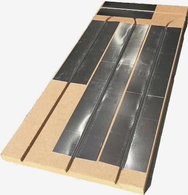 Plaque de plancher chauffant Caleosol eco+ équipées de tôles aluminium
