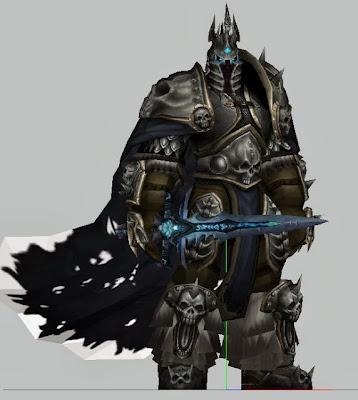 Papercraft Lich King - World Of Warcraft Model