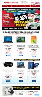 Click to view this Nov. 22, 2011 Office Depot email full-sized