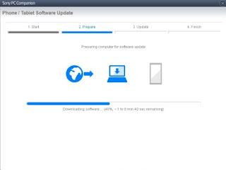 Upgrade Sony XPERIA Tipo tapi gagal