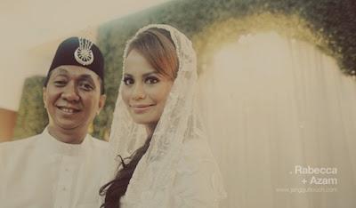 Gambar Perkahwinan Rebecca Nur Al-Islam