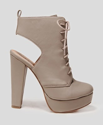 See more Cutout Heel Lace-Up Booties