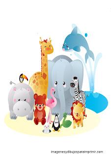Animales del zoo para imprimir