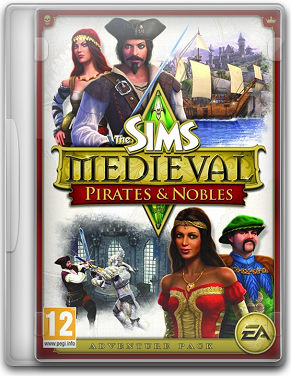 Capa The Sims Medieval: Piratas & Nobres   PC + Crack