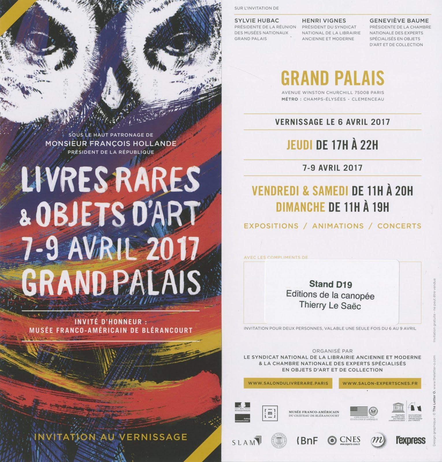 Livres d 39 artiste aux ditions de la canop e salon du - Salon du livre paris 2017 ...