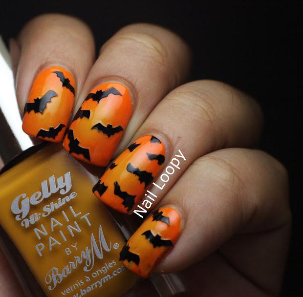 nail loopy halloween bat nails