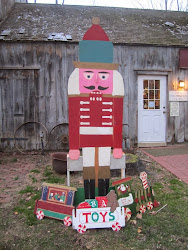 An Eight Foot Nutcracker at the Huntington Historical Society's Gift Shop