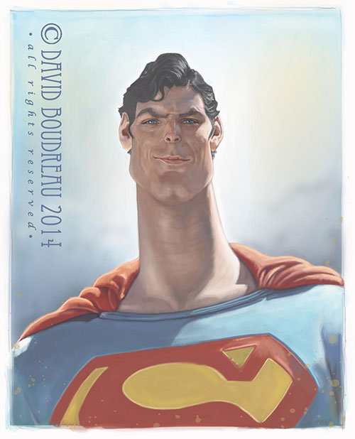 "Cristopher Reeve ""Superman"" por David Boudreau"
