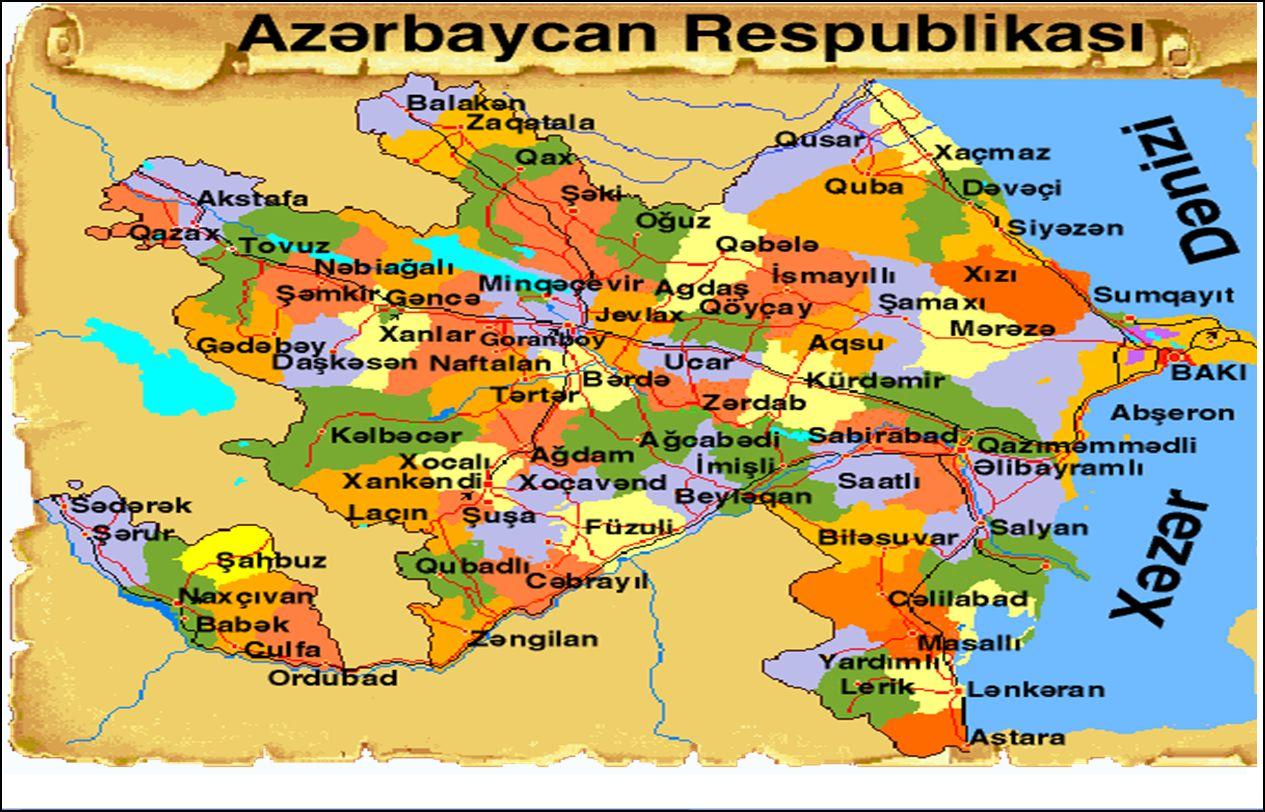 Azerbaycan Haritasi.