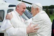 Encuentro del Papa Francisco con Benedicto XVI papafrancescobenedicto