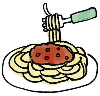 スパゲティ・ミートソースのイラスト