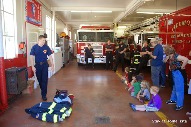 birthday party at a fire station