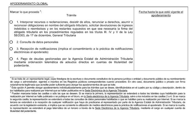 Formulario Apodederamiento Notificaciones Electrónicas Agencia tributaria