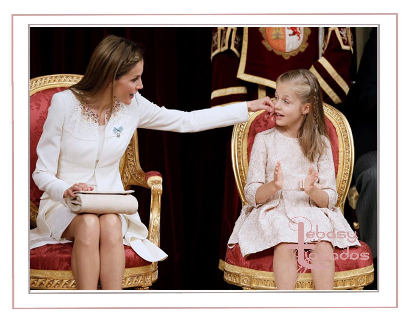 Peinadas con trenzas Doña Letizia y su hija, la Princesa de Asturias.