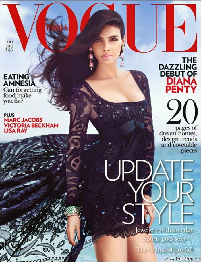 Diana Penty - The Cocktail Beauty on Vogue Cover