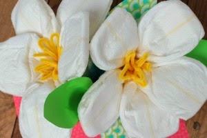Centros de Mesa de Pañales y Flores, Baby Shower