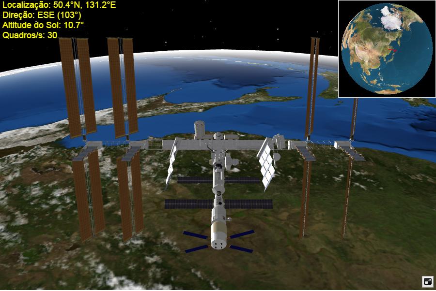 Gráfico Estação Espacial em tempo real