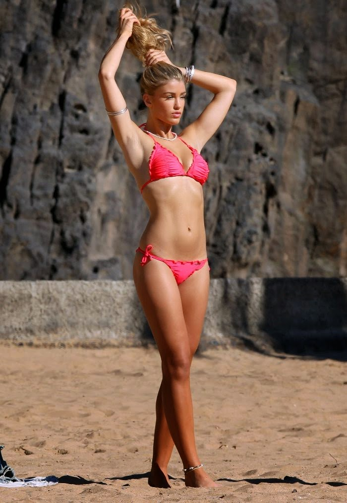 Amy Willerton Gets Cheeky in Revealing Red Bikini During Tenerife Vacation