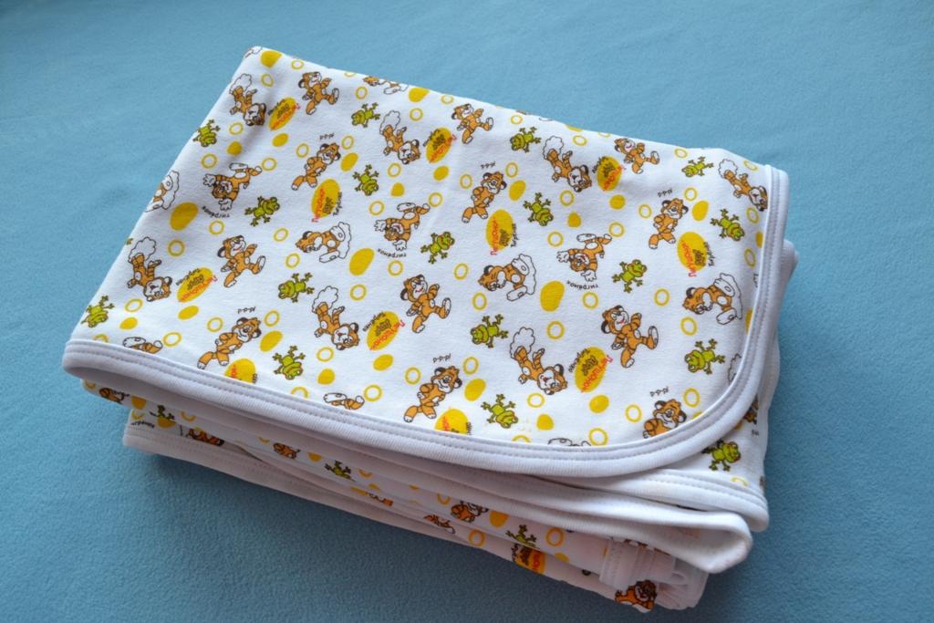 трикотажные пеленки, пеленка из интерлока, пеленки своими руками, размер пеленок для новорожденного
