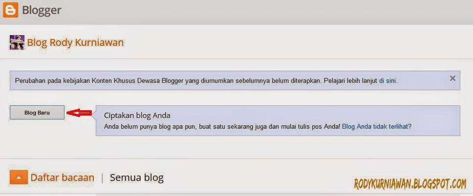 Cara Membuat Blog di Blogger Terbaru Lengkap Dengan Gambar