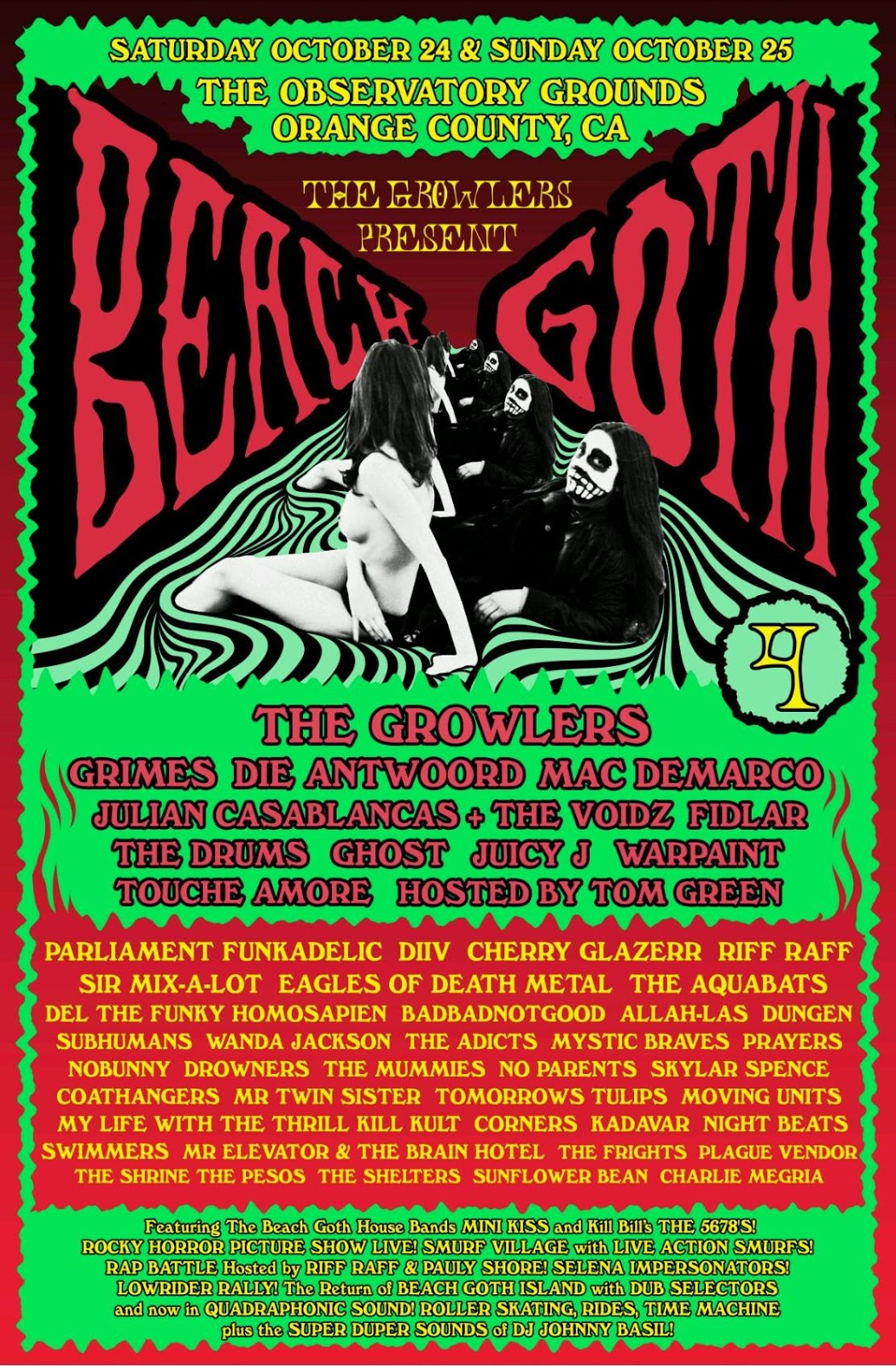 Beach Goth 2015, Beach Goth 4, The Growlers