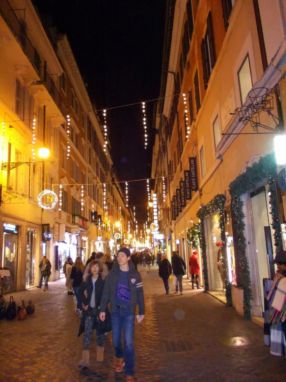 barcaccia lampadari roma : In bici per roma: luci di natale su roma!