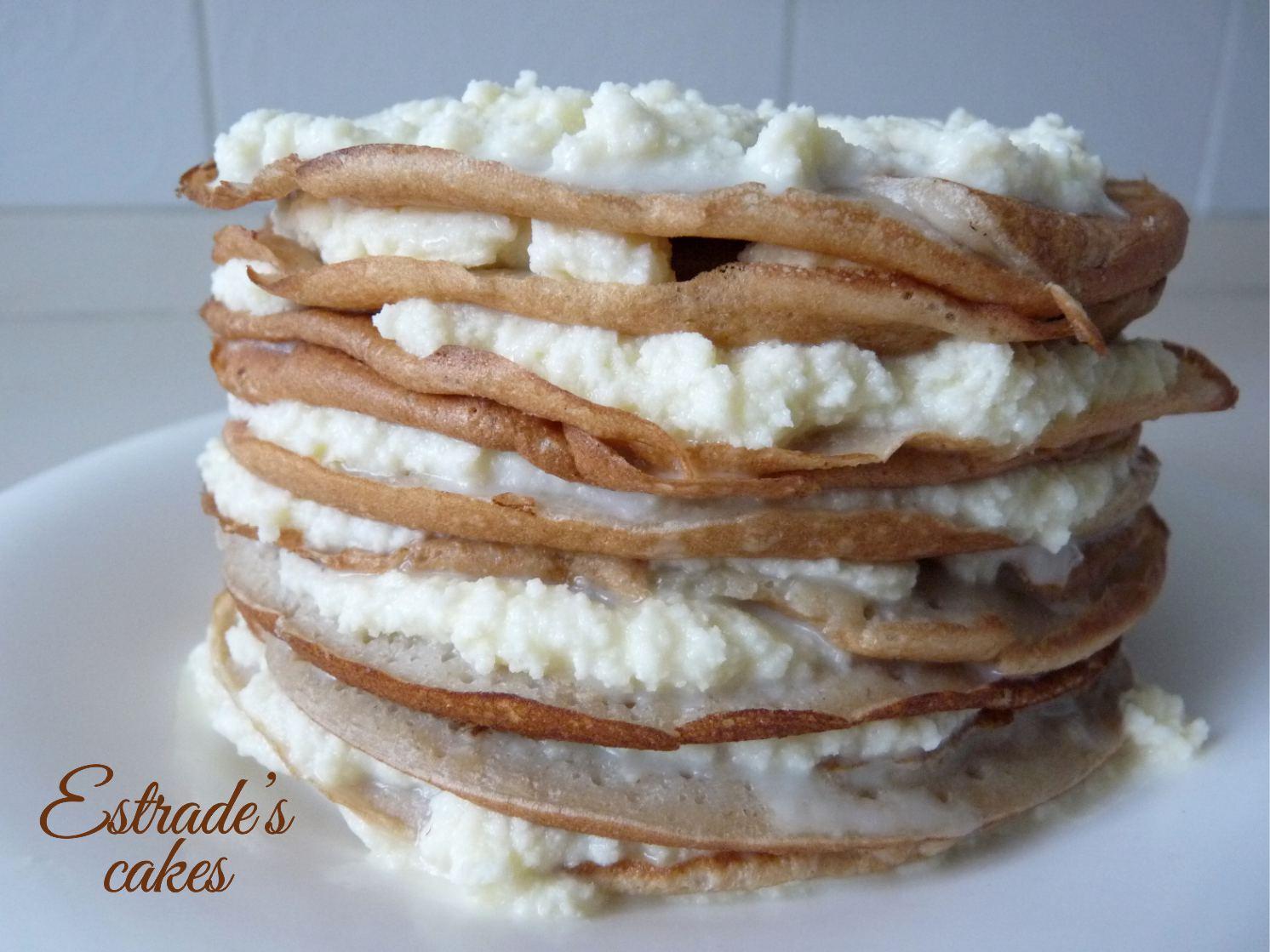 mille crepe de plátano y ganache blanco, receta - 2