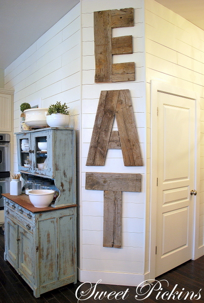 Wood Wall Decor For Kitchen : Be different act normal diy reclaimed wood kitchen sign