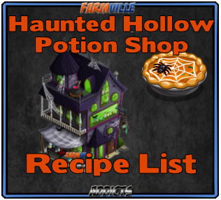 Potion Recipe List