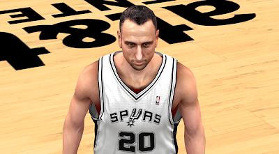 NBA 2K14 Manu Ginobili Next-Gen Face Mod