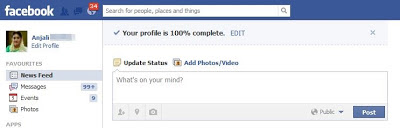 Facebook Completed Profile 100 percent