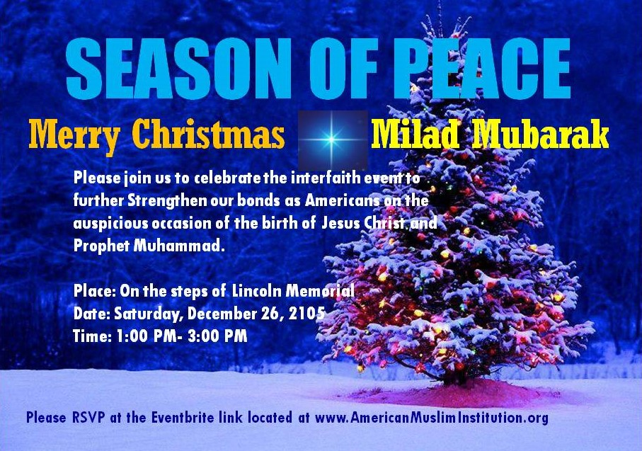 Season of Peace – birth celebrations of Jesus Christ and Prophet ...