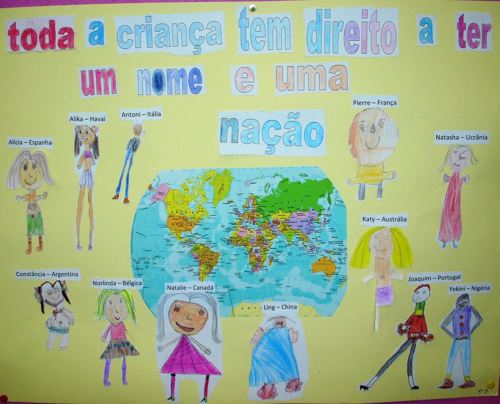 Famosos Janela Colorida: DIREITOS DA CRIANÇA JX88