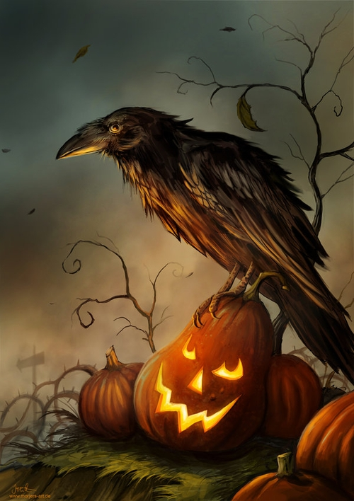 06-Halloween-Raven-Jeremiah-Morelli-Fantasy-Digital-Art-from-a-Middle-School-Teacher-www-designstack-co