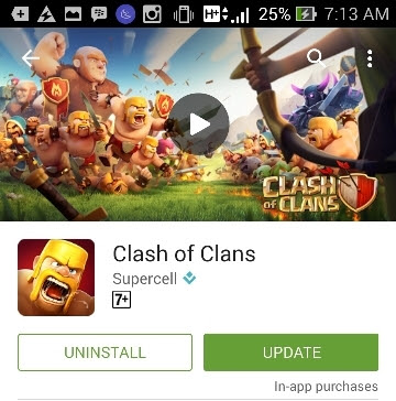 update coc hallowen dari play store