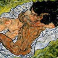 'Amants abraçats (Egon Schiele)'
