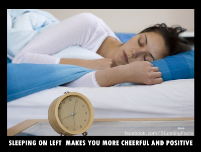 Sleeping on left 'makes you more cheerful and positive'