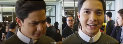 Screen cap from an interview with Alden Richards