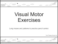 Visual Motor Scores And Handwriting Your Therapy Source