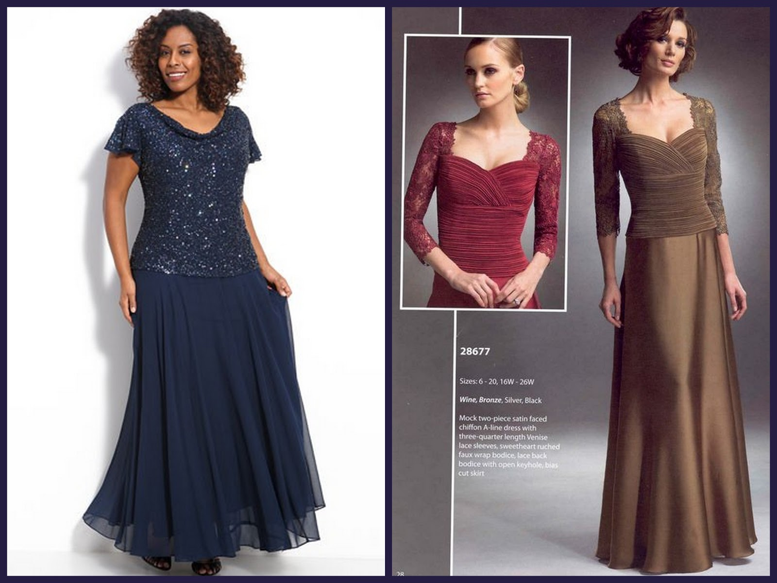 Full Figure Mother Of The Bride Dresses