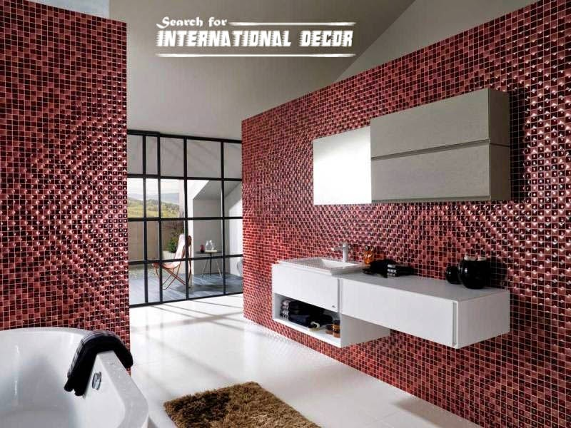 Top catalog of mosaic tiles in the interior Bathroom tile ideas mosaic