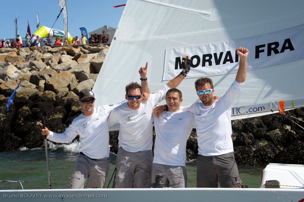 Pierre Antoine Morvan, vainqueur des Internationaux de France de Match Race à Pornichet.