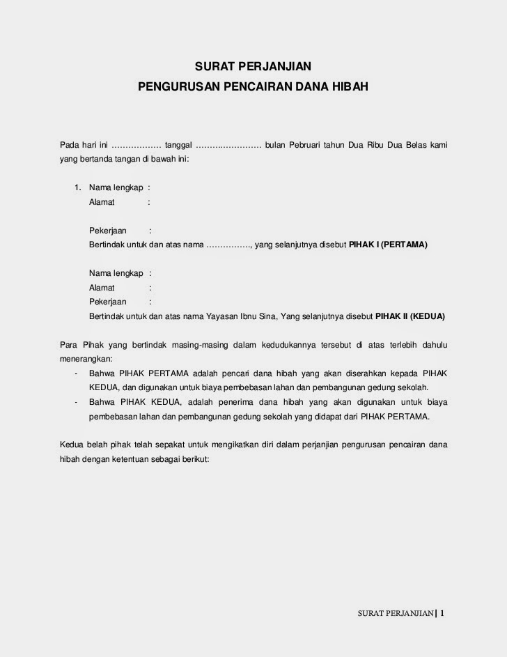 Surat Persetujuan Hibah