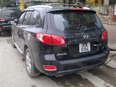 Cho thuê xe 7 chỗ Huyndai Santafe tại Hà Nội