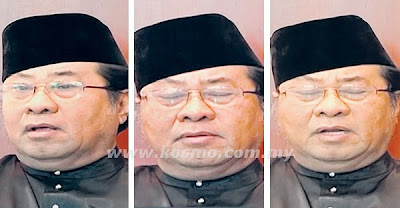 Gambar MB Selangor  Tan Sri Abdul Khalid Ibrahim Terlelap Pada Sidang Akhbar