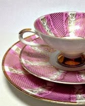 Pink & Gold Tea Cup Set